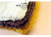 2012 New Style Christmas/xmas Hot-selling Women/Girls Bow Pearl Smiley Knitted HatS China Doll Hat 8229 Wholesale/Retail