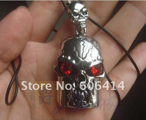 FREE SHIPPING+drop shipping retail genuine capacity 4G 8G 16G 32G barehead skull jewelry metal shape usb flash drive