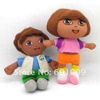 Детская плюшевая игрушка Fress Shing EMS 30/Set Dora the Explorer DORA & DIEGO Plush Dolls Toy New