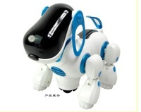 Free shipping,Electric robot dogs electronic pet dog toy,music shine pet