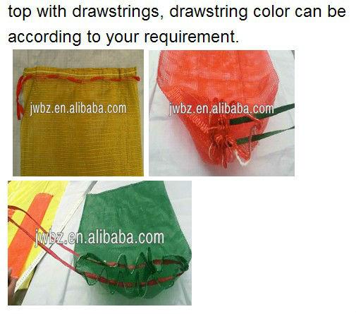 Recyclable mesh bag, PP mesh bags drawstring of onion potato