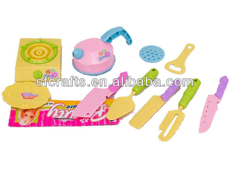 Happy plastic mini kitchen set toys