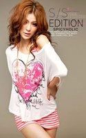Женская футболка 2012 New/HOT/Coat/fashion/Sexy/charm/low back/curve/low bosom/vest /T-Shirt/Cotton/Tops/RG1207066