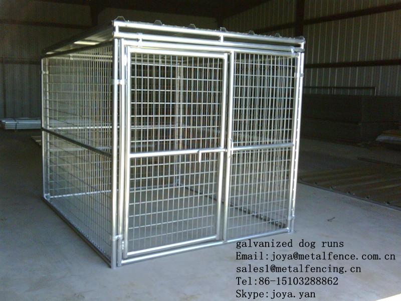 Pet cages outdoor dog kennels 6'x8'x6' dog kennels hot dip galvanized dog kennels