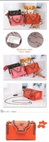 Сумка через плечо Unique Women's Vintage Metal Chain Shoulder Messenger Handbag Clutch Handbag Brown Dual Use Metal Skeleton+Button Decor