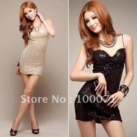 Женское платье Sexy Ladies' Off-shoulder Evening Cotton Stretch Tops Slash Neck Strapless Mini Dress [13295|01|01