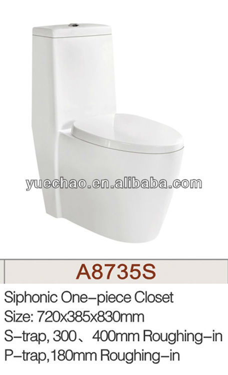Sanitary ware one piece toilet(A8735S)