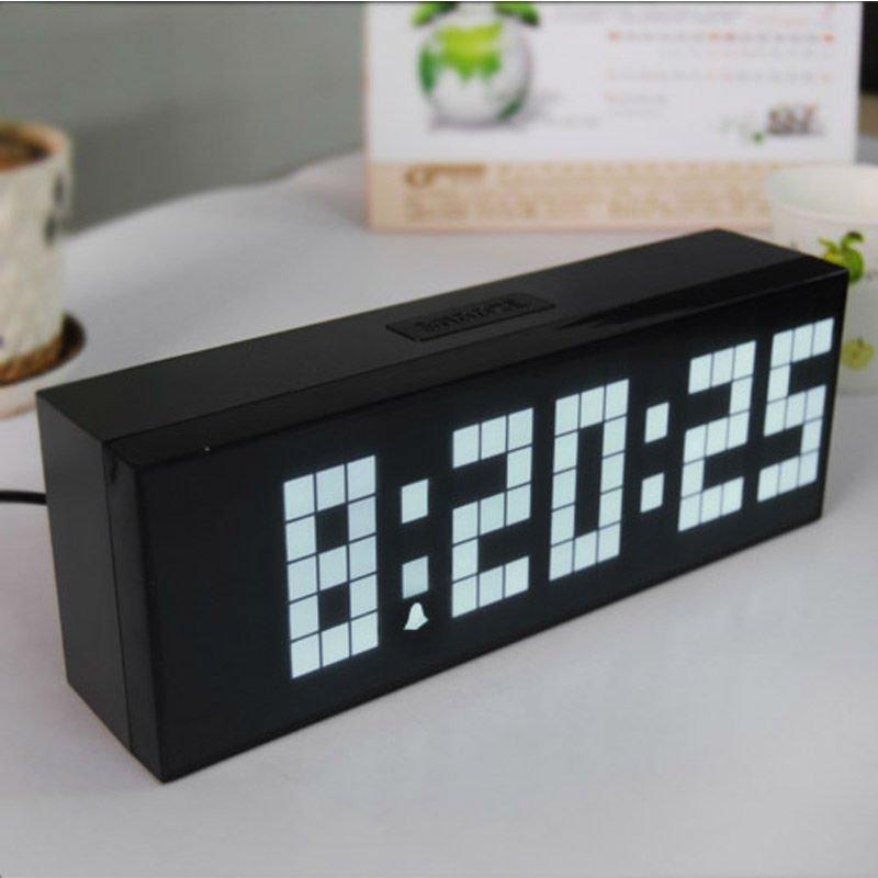 Big Digital Clock Led Alarm Table Despertador With Temperature