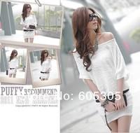 Women's dress Fashion sexy Cotton loose Korean wild dress - 6221