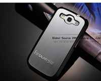 HOT! Brushed Aluminum back case for samsung i9300 matel cover for galaxy s3 with a front protector bumper hard case school bag
