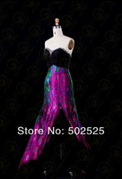 Вечернее платье Printing Fabirc Pleat and Beading Handwork Strapless Prom Dress OL101834