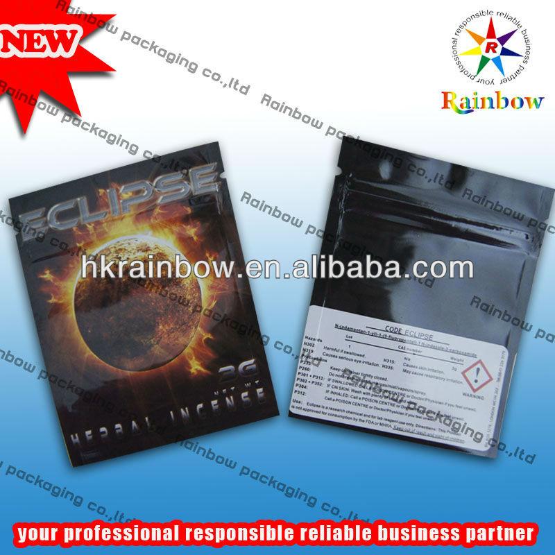 herbal incense bag 1.5g 3.5g 10g