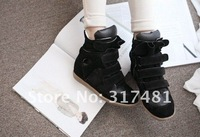 Женские кеды High quality Isabel Marant Genuine Leather Red+Black+Blue Height Increasing Sneakers Women RX1454