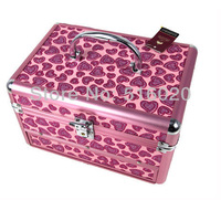 Косметичка High Quality Fashion Multi-layer Professional makeup storage box cases with mirror Cute beauty jewelry box