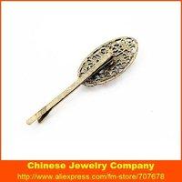 Ювелирное украшение для волос High Quality Vintage Hollow Out Rhinestone Flower Hairpin For Women Hair Clips H18