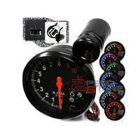 """TYPE -R 5"""" WHITE 4IN1 TACHOMETER GAUGE(TK-8140SW-OWOT)Reasonable shipping costs, high quality, have stock, fast shipping!"""