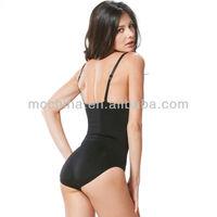бесшовные похудения Корректирующее белье животик управления тела формирователь боди черный обнаженная