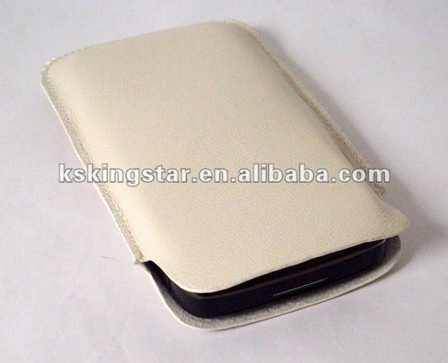 sleeve pu leather case for iphone 4s