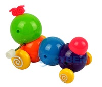 Заводная игрушка Funny Cute Colorful Plastic Inchworm Twist Forward Clockwork Movement Kids Baby Toys