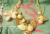 Цепочка с подвеской Nice Jewelry Shell large flowers drop Hundred Lolita Necklace NJ-0053