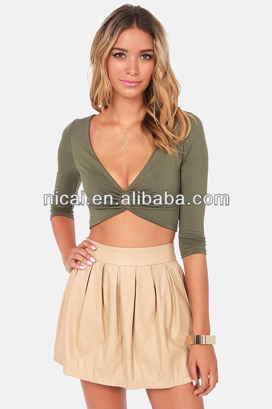 2014 girls sexy fashion blouse