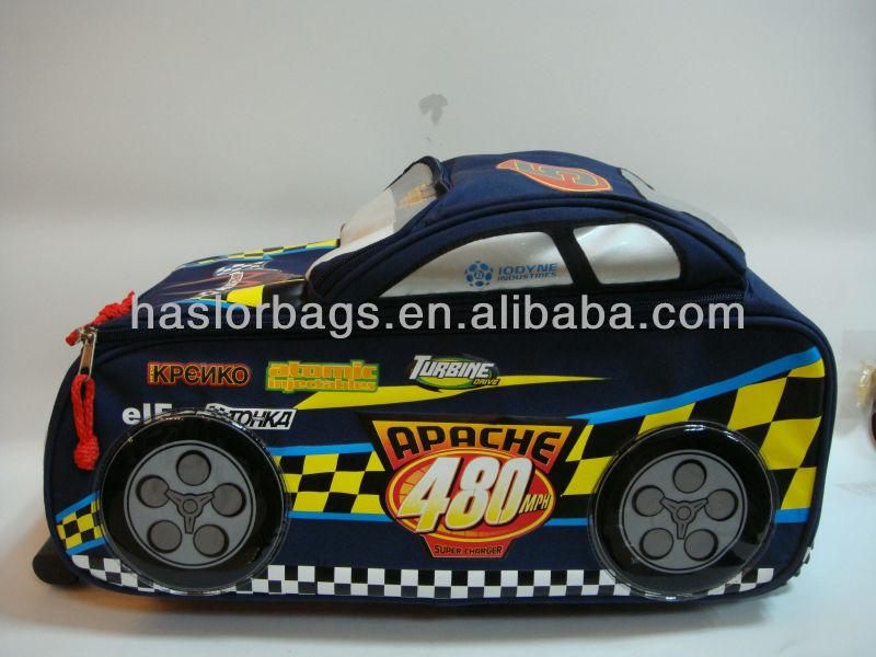 Racing modèle de voiture sac d'école pour garçons