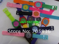 Наручные часы Colors Fashion abby watch plastic watch ODM Jelly watch in 10 colors 10pcs/lot