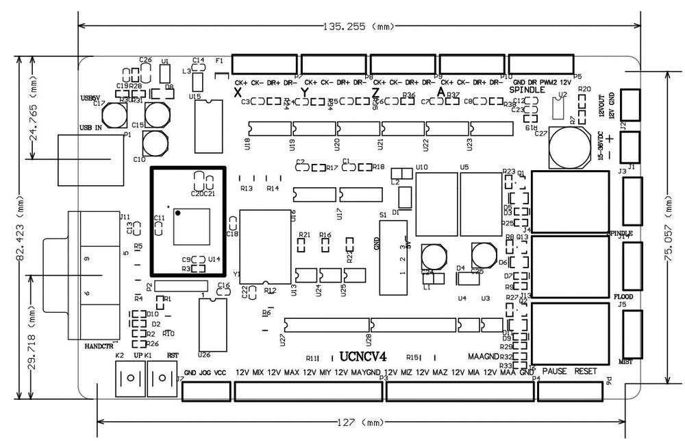 excellent usb port 4 axis usb cnc usbcnc breakout board interface tu 2 jpg