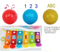free shipping,Baby hammer xylophone wooden organ, music number character  baby toys