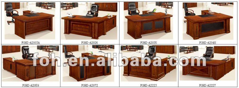 6 Feet L Table Boss Executive Desk Wooden Office Table (FOHS-A2026)