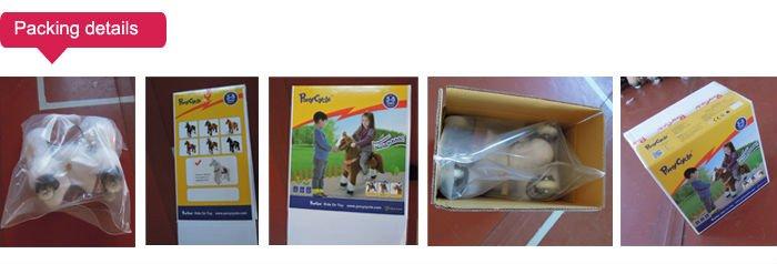 Ride-on do Ciclo De Pônei de pelúcia Cavalo de Brinquedo para Crianças e Adultos