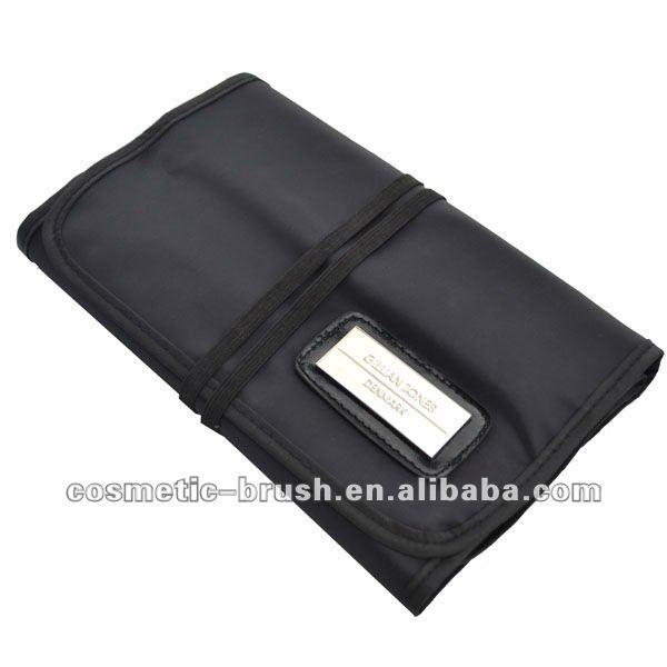 Factory direct Black Nylon cosmetic make up brush bag