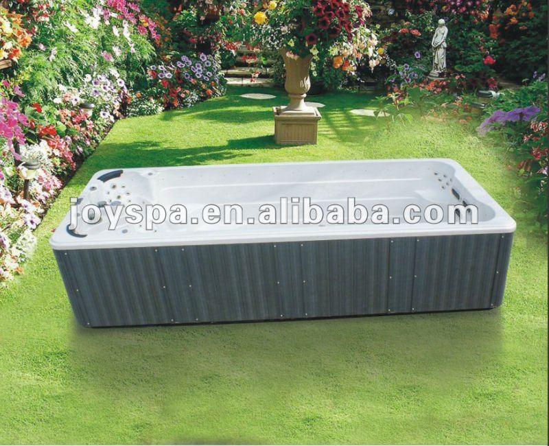 Freestanding Above Ground Swim Spa Fiberglass Pool Buy