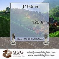 Архитектурно-строительное стекло Toughened glass pool fencing 1000x1200mm x 12mm