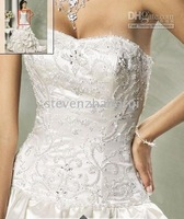 wedding dresses Ball gown wedding gown Sweetheart embroidery Satin Parisia Style 2011 for Jobridal 470
