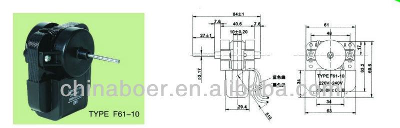 refrigerator fan motor parts 220V