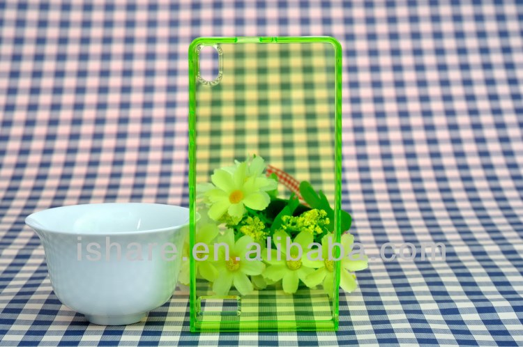 ultra thin crystal clear transparent TPU case cover for Huawei P6