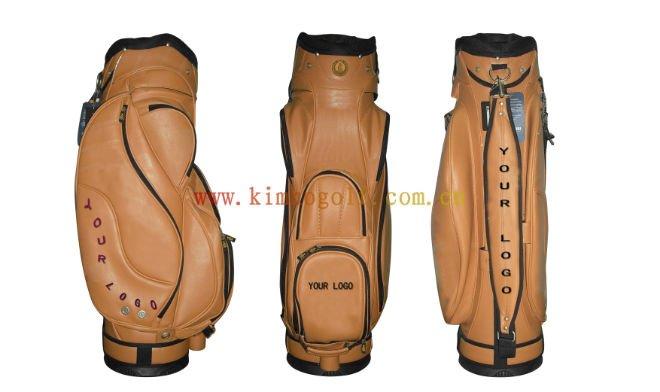PU leather golf club bag