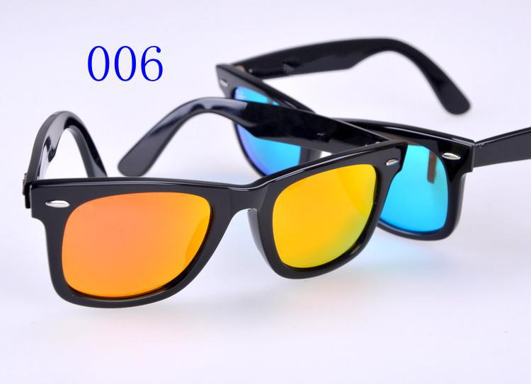 High Quality Metal hinge Plank black Sunglasses glass Sunglasses sports sunglasses Green Lens