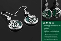 Серьги висячие Hot Sale 925 Silver Fashion Earring Drop Earring Agate Earring EGJ06130