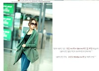 Free shipping 2013 fashion autumn winter coat plus size casual loose patchwork clothing set cardigan brief jacket tops free