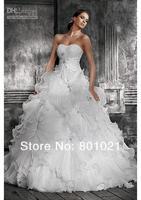 SexyyetContemporaryElegant  Strapless Ruffle Organza Wedding Dress
