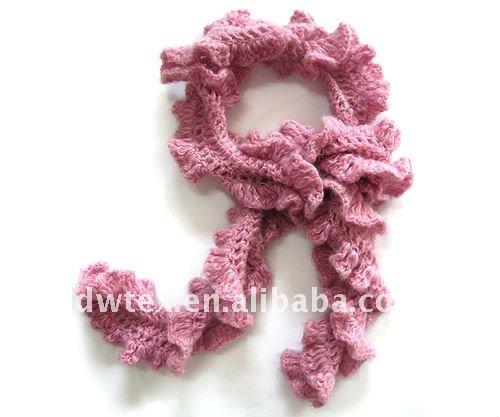 Moda crochet bufanda de cuello para las mujeres