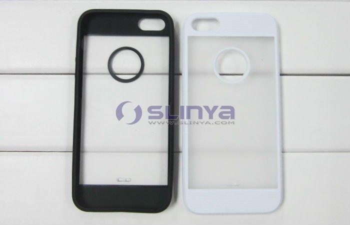Color Board Transparent Back Soft TPU Skin for iPhone 5 Slim Case