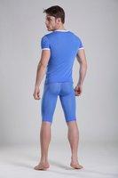 Free shipping ! Ultra/thin short sleeve + pants in underwear men's underwear bodywear dream lounge pants mocha