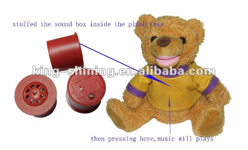 sound box for plush toys stuffed animal toy