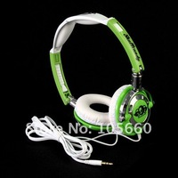 Наушники wired Stereo headband Headphone Headset for music Notebook MP3 black/white/green/red/orange s-kull