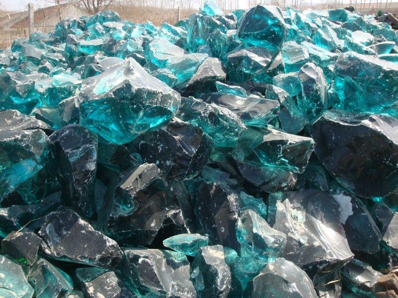BLUE GLASS ROCKS