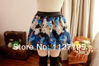 Женская юбка Autumn Winter Fashion Retro Floral / Plaid / Leopard Pattern Mini Bud Skirt Women's Flannel Skirt