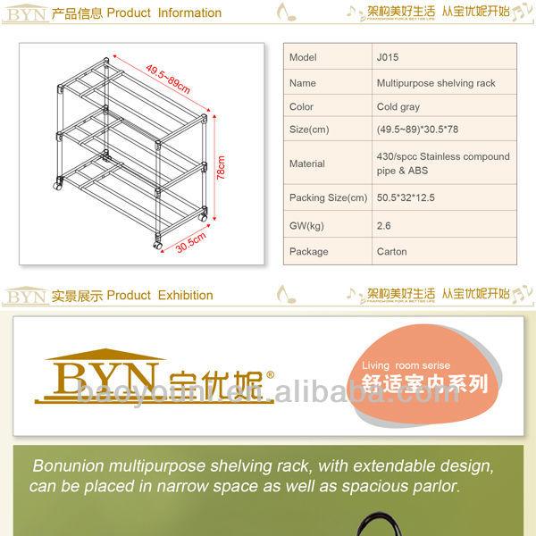 en acier inoxydable industriels baoyouni étagère à chaussures pliantes chaussures rack j015